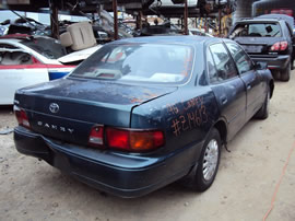 1996 TOYOTA CAMRY 4 DOOR SEDAN LE MODEL 2.2L CA AT FWD COLOR GREEN Z14613