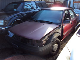 1990 TOYOTA COROLLA 4 DOOR SEDAN DLX MODEL 1.6L AT FWD COLOR RED Z14645
