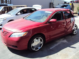 2007 TOYOTA CAMRY 4 DOOR SEDAN LE MODEL 2.4L AT FWD COLOR RED Z14699