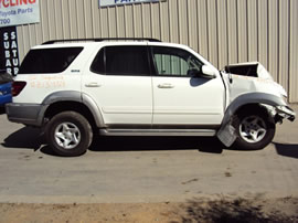 2002 TOYOTA SEQUOIA SUV SR5 MODEL 4.7L V8 AT 2WD COLOR WHITE Z13454