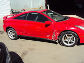 2000 TOYOTA CELICA GT-S MODEL 1.8L MT 6 SPEED FWD COLOR RED Z13539