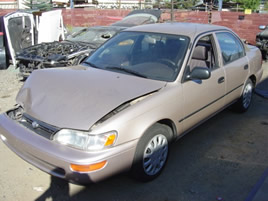 1994 TOYOTA COROLLA ,4 CYL ,AUTOMATIC, COLOR:GOLD STK;Z09033