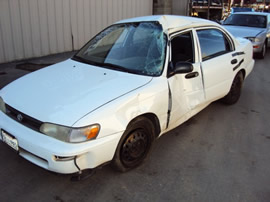 1993 TOYOTA COROLLA 4CYL, 3 SPEED AUTOMATIC TRANSMISSION, STK# T10139