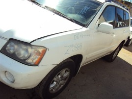 2003 TOYOTA HIGHLANDER, 3.0L AUTO 2WD, COLOR WHITE, STK Z15888