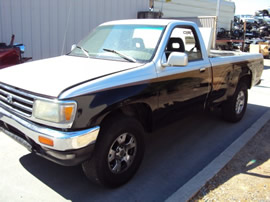 1996 TOYOTA T100 TRUCK, 4CYL ENGINE, MANUAL TRANSMISSION, 2WD, STK # Z12290