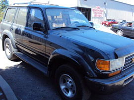 1996 TOYOTA LANDCRUISER AWD, 4.5L ENGINE COLOR BLACK STK # Z12287