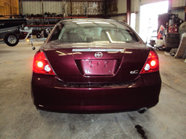 2005 SCION TC CPE  2 DOOR 2.4L MT FWD COLOR MAROON STK Z13365