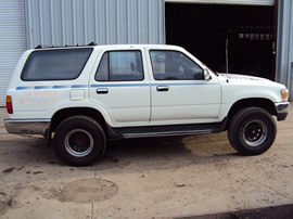 1992 TOYOTA 4RUNNER SR5 MODEL 4 DOOR 3.0L V6 AT 4WD COLOR WHITE STK Z13367
