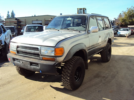 1991 TOYOTA LAND CRUISER 4.0L AT 4X4 COLOR SILVER STK Z13376