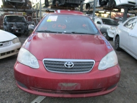 2008 TOYOTA COROLLA CE BURGUNDY 1.8L AT Z16526