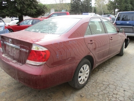 2005 TOYOTA CAMRY LE BURGUNDY 2.4L AT Z16251