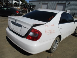 2002 TOYOTA CAMRY LE WHITE 2.4L AT Z17630