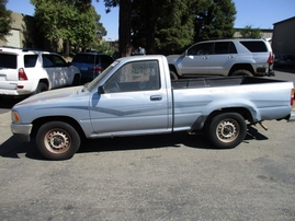 1990 TOYOTA TRUCK DLX LIGHT BLUE STD CAB 2.4L AT 2WD Z16352