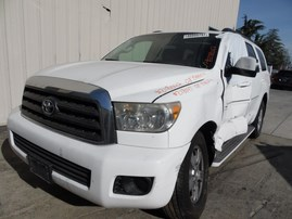 2008 TOYOTA SEQUOIA LIMITED WHITE 5.7L AT 2WD Z18047