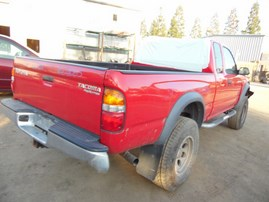 2004 TOYOTA TACOMA PRERUNNER XTRA CAB RED 2.7L AT 2WD Z18053