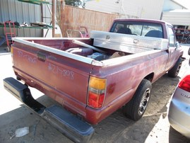 1987 TOYOTA TRUCK STD CAB BURGUNDY 2.4L AT 2WD Z17898