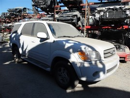2002 TOYOTA SEQUOIA  LIMITED WHITE 4.7 AT 4WD Z19737