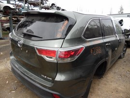 2015 TOYOTA HIGHLANDER XLE OLIVE 3.5L AT 4WD Z18131
