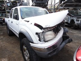 2002 TOYOTA TACOMA PRERUNNER SR5 WHITE DOUBLE CAB 3.4L AT 2WD Z18141