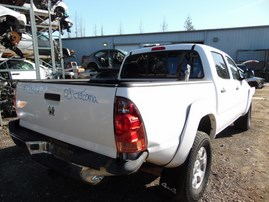 2008 TOYOTA TACOMA SR5 WHITE DOUBLE CAB 4.0L AT 4WD Z18142