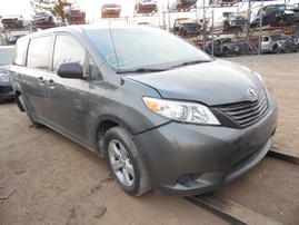 2013 TOYOTA SIENNA OLIVE 3.5L AT 2WD Z17651