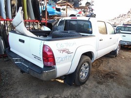 2006 TOYOTA TACOMA SR5 PRERUNNER CREW CAB WHITE 4.0 AT 2WD TRD OFF ROAD PACKAGE Z20979