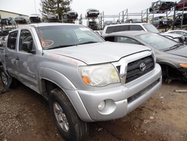 2007 TOYOTA TACOMA SR5 PRERUNNER DOUBLE CAB SILVER 4.0L AT 2WD Z17678