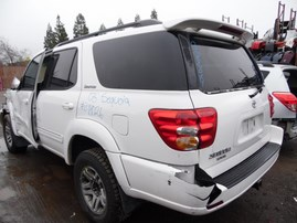 2003 TOYOTA SEQUOIA LIMITED WHITE 4.7L AT 4WD Z18026