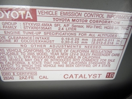 2005 TOYOTA CAMRY LE SILVER 2.4L AT Z17712