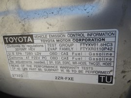 2015 TOYOTA PRIUS SILVER 1.8L AT Z18214