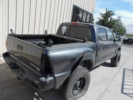 2012 TOYOTA TACOMA PRERUNNER DOUBLE CAB GRAY 4.0L AT 2WD Z17725