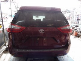 2017 TOYOTA SIENNA XLE RED 3.5 AT 2WD Z19822