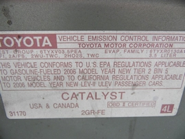 2006 TOYOTA AVALON XL OLIVE 3.5L AT Z17758