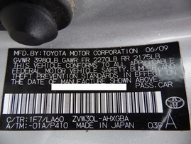 2010 TOYOTA PRIUS SILVER 1.8L AT Z17759