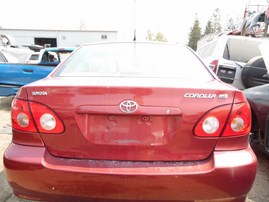 2007 TOYOTA COROLLA LE BURGUNDY 1.8L AT Z18276