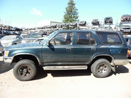 1994 TOYOTA 4RUNNER SR5 GREEN 3.0L AT 4WD Z17772