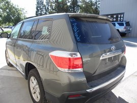 2012 TOYOTA HIGHLANDER GREEN 2.7L AT 2WD Z17797