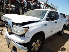 2008 TOYOTA TUNDRA DOUBLE CAB WHITE SR5 5.7L AT 4WD Z17799