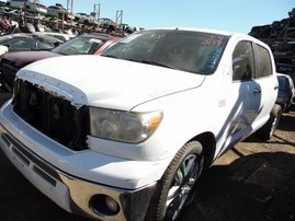 2007 TOYOTA TUNDRA SR5 WHITE DOUBLE CAB 5.7L AT 2WD Z17808
