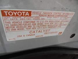 2006 TOYOTA AVALON TOURING 4DOOR SILVER 3.5 AT2WD Z19653