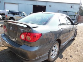 2007 TOYOTA COROLLA S GRAY 1.8L AT Z17831