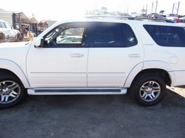 2004 TOYOTA SEQUOIA LIMITED WHITE 4.7L AT 2WD Z18358