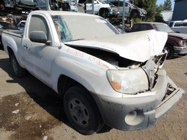 2010 TOYOTA TACOMA WHITE STD CAB 2.7L AT 2WD Z17853