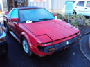 1988 TOYOTA MR2 STD MODEL 1.6L SUPERCHARGED AT COLOR RED Z14609