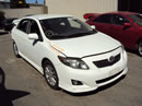2009 TOYOTA COROLLA 4 DOOR SEDAN S MODEL 1.8L AT FWD COLOR WHITE Z14698