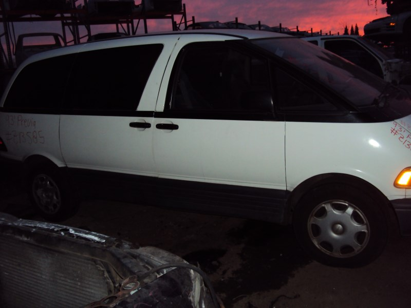1993 TOYOTA PREVIA VAN LE MODEL 2.4L AT 2WD COLOR WHITE Z13585