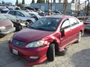 2004 TOYOTA COROLLA S SERIES ,5 SPEED TRANS WITH ALL THE BELLS AND WHISTLES, COLOR:RED STK;Z09034