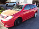 2003 TOYOTA MATRIX 4CLY. , 5 SPEED TRANSMISSION , COLOR-RED , STK # Z10085