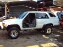 1986 TOYOTA 4RUNNER DLX, 2.4L AUTO 4WD, COLOR WHITE, STK Z15855