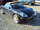 2001 TOYOTA MR2 4CYL ENGINE, MANUAL TRANSMISSION, COLOR BLACK, STK # Z11158